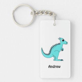 青い恐竜 キーホルダー