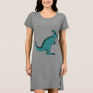 青い恐竜 ドレス