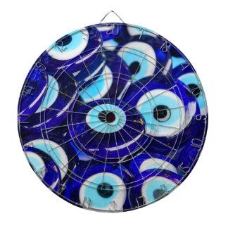 青い悪のまなざしの記念品はイスタンブールトルコで販売しました ダーツボード