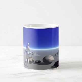 青い惑星のアンドロイド コーヒーマグカップ