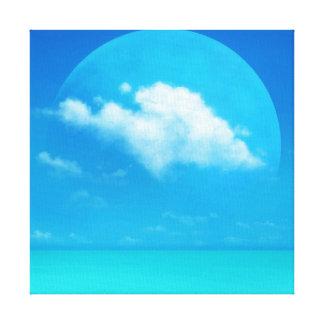 青い惑星 キャンバスプリント