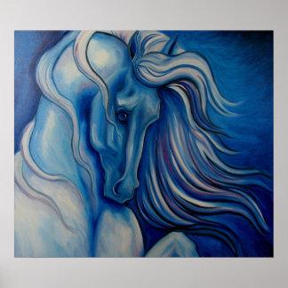 青い戯曲馬 プリント