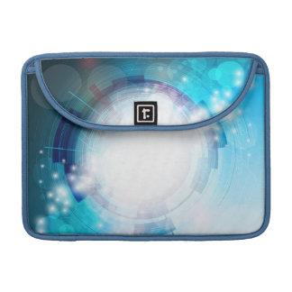 青い技術のデザイン MacBook PROスリーブ