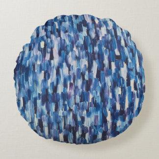 青い投球の円の枕の群集 ラウンドクッション