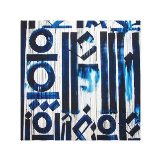 青い抽象的概念のキャンバスの芸術 キャンバスプリント