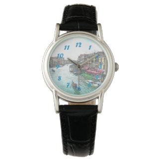 青い数字の美しいベニスイタリア 腕時計