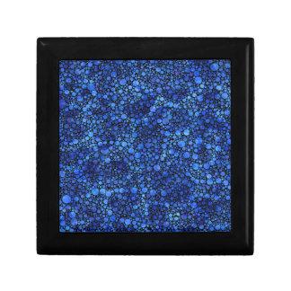 青い斑入りの抽象芸術 ギフトボックス