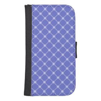 青い斜めパターン ウォレットケース