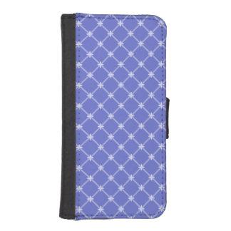 青い斜めパターン iPhoneSE/5/5sウォレットケース