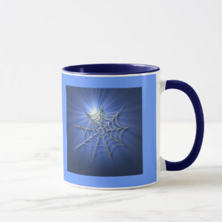 青い日が差すことの蜘蛛の巣のマグ マグカップ