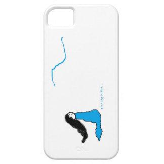 青い日のコレクションの移動式カバー iPhone SE/5/5s ケース