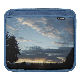 青い日没によっては横のiPadの袖が夢を見ます iPadスリーブ