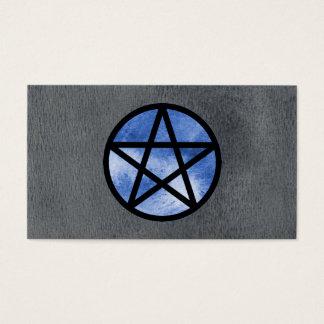 青い星形五角形の名刺 名刺