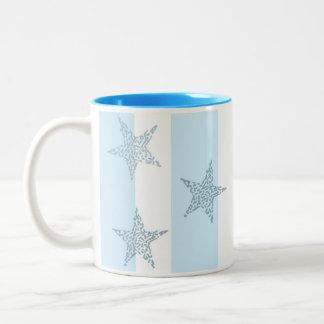 青い星条旗 ツートーンマグカップ