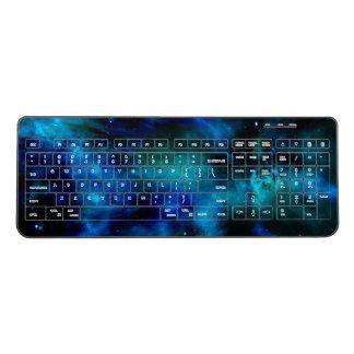 青い星雲および惑星 ワイヤレスキーボード