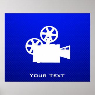 青い映画用カメラ ポスター