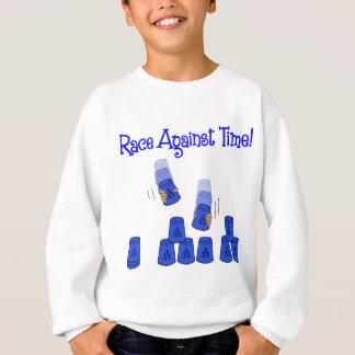 青い時間に対する競争 スウェットシャツ