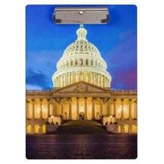 青い時間の米国の国会議事堂 クリップボード