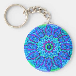 青い曼荼羅Keychain キーホルダー