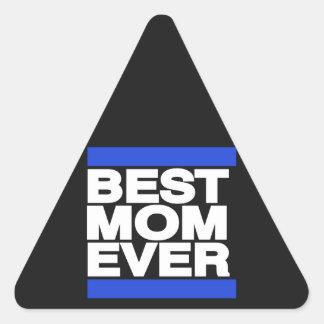 青い最も最高のなお母さん 三角形シール