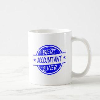 青い最も最高のな会計士 コーヒーマグカップ
