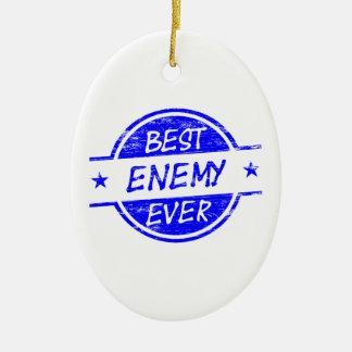青い最も最高のな敵 セラミックオーナメント