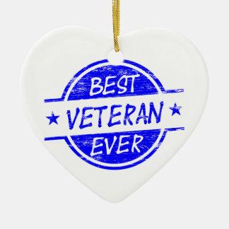 青い最も最高のな退役軍人 セラミックオーナメント