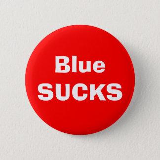 青い最低 5.7CM 丸型バッジ