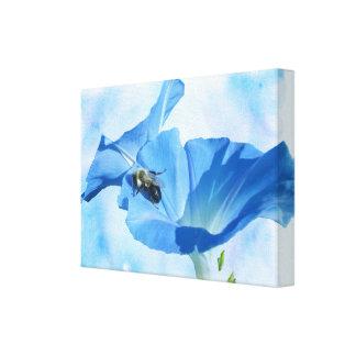 青い朝顔および《昆虫》マルハナバチ キャンバスプリント