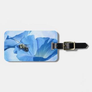 青い朝顔および《昆虫》マルハナバチ ラゲッジタグ