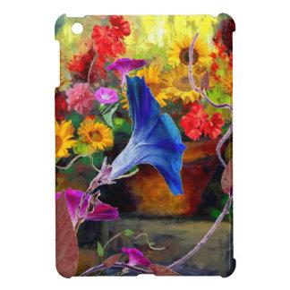 青い朝顔の花園 iPad MINIカバー