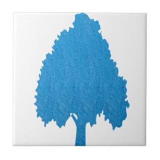 青い木のアクリルの記号による芸術NVN38のnavinJOSHI タイル