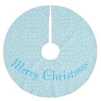 青い木のスカートの雪片 ブラッシュドポリエステルツリースカート
