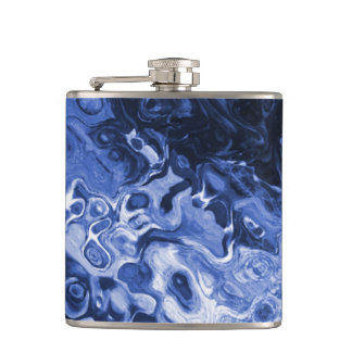 青い木の抽象芸術のフラスコ フラスク