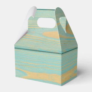 青い木パターン質の好意箱 フェイバーボックス