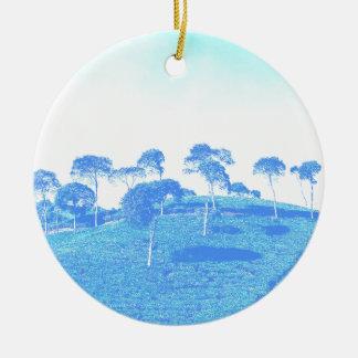 青い木 セラミックオーナメント