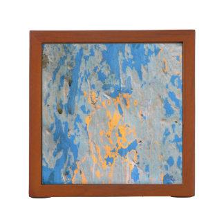 青い机のオルガナイザーの抽象芸術 ペンスタンド