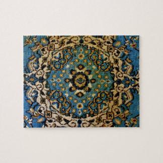 青い東洋の敷物 パズル