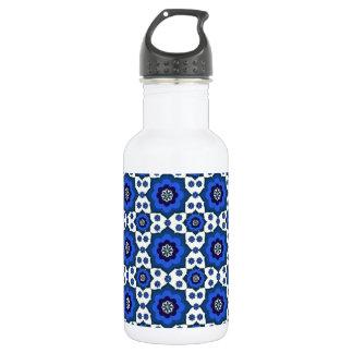 青い東洋パターンタイル ウォーターボトル