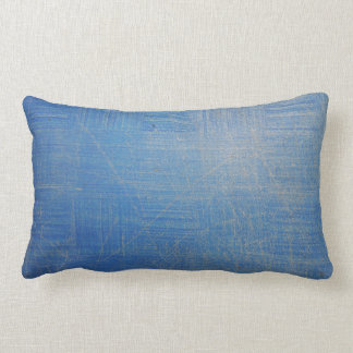 青い枕 ランバークッション