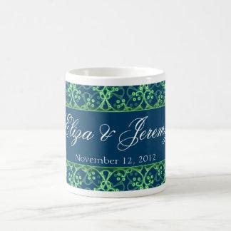 青い果実の集りの結婚式のマグ コーヒーマグカップ