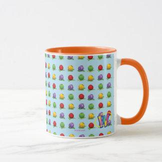 青い果実パターン マグカップ