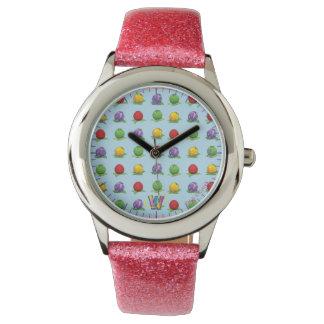 青い果実パターン 腕時計