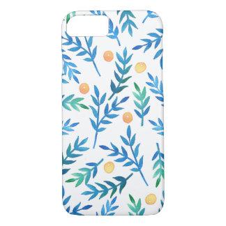 青い枝 + 珊瑚の果実 iPhone 8/7ケース