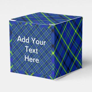 青い格子縞の好意箱 フェイバーボックス