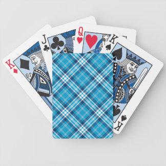 青い格子縞の賭博カード バイスクルトランプ