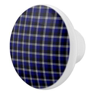 青い格子縞 セラミックノブ