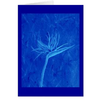 青い極楽鳥 カード