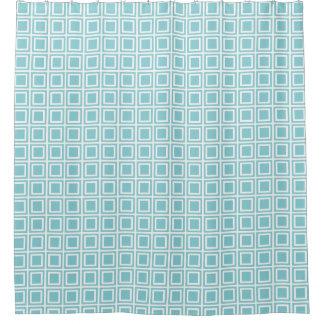青い楽園および白はシャワー・カーテンを妨げます シャワーカーテン