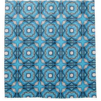 青い歓喜 シャワーカーテン